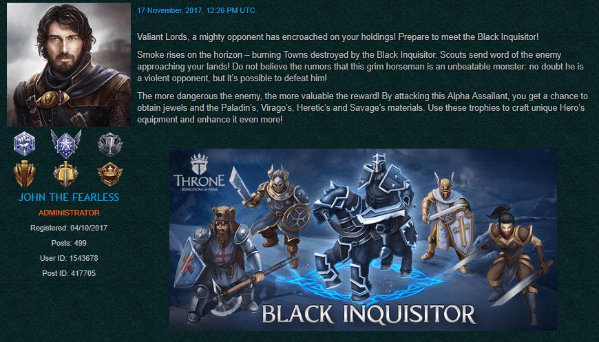 The Black Inquisitor
