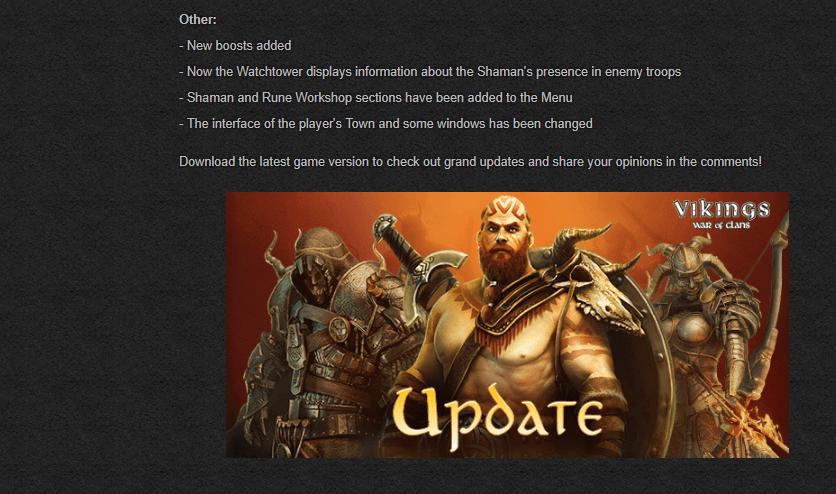 Update Vikings