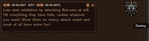 Destiny attacks Ratcomes