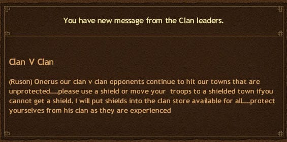 Clan Vs Clan Turns messy