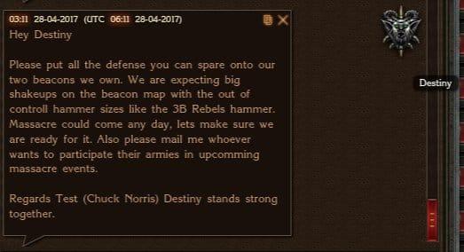Leagues Prepare Beacon  Massacre