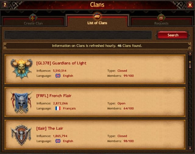Vikings New Realm Clans