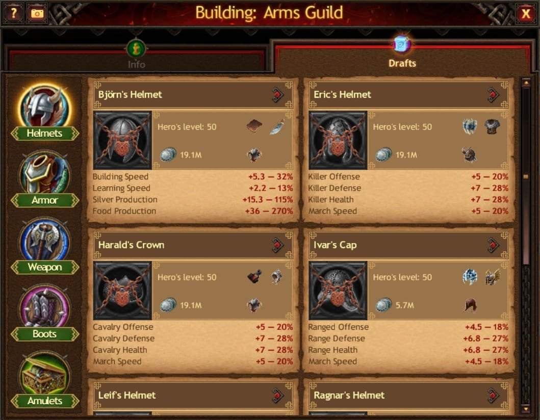 Arms Guild Drafts