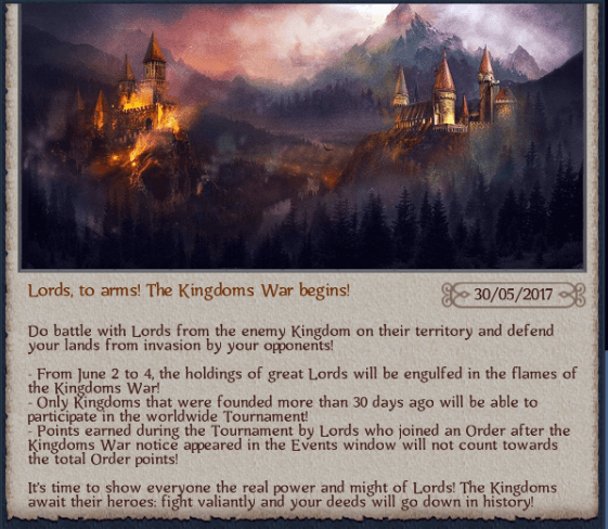 The Kingdom war begins