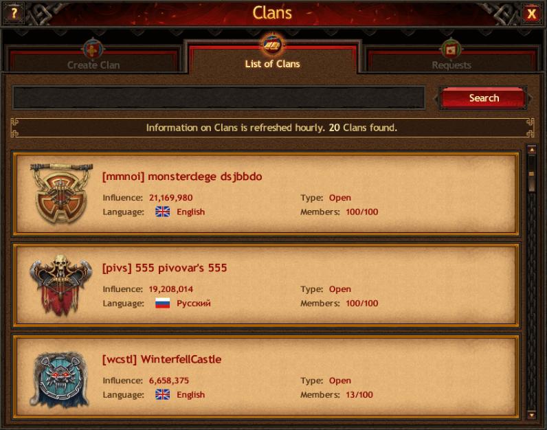 Spitzortlagen Kingdom Clans