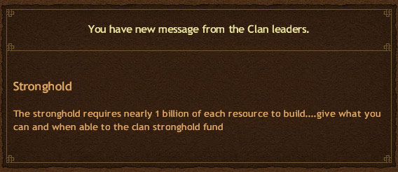 Clans Strengthen Strongholds