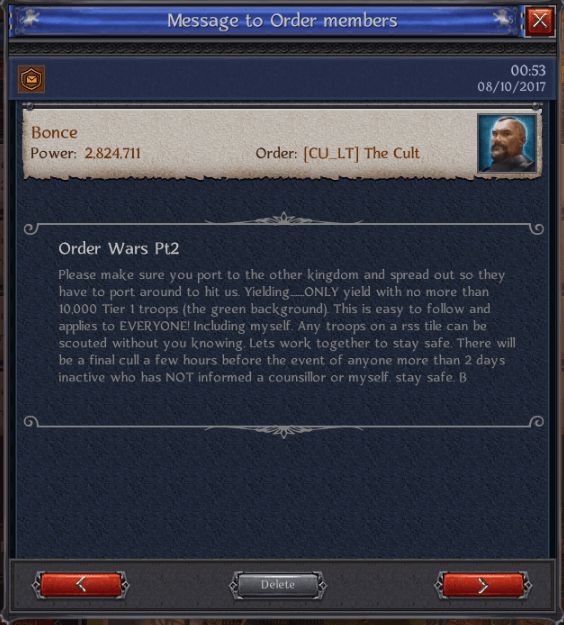 Order Wars Part 2
