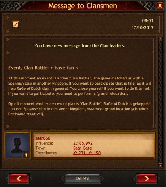 Dutch Clan Battle