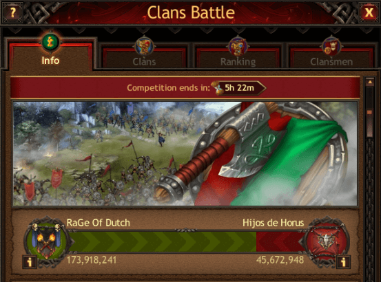Rage Of Dutch Dominate Clan Battle