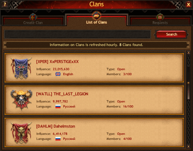 Dahelmston clans