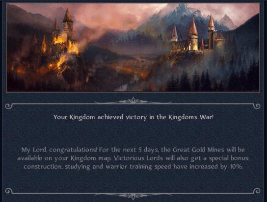 Sautrest Wins Kingdoms war