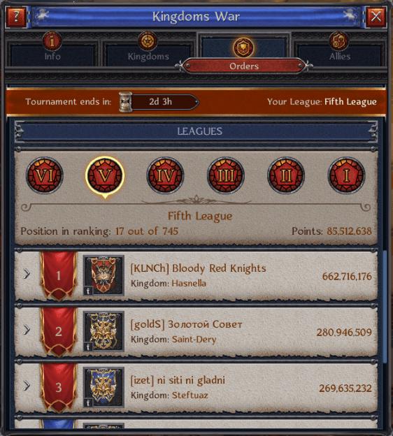 Kingdoms War Bloody Red Knights
