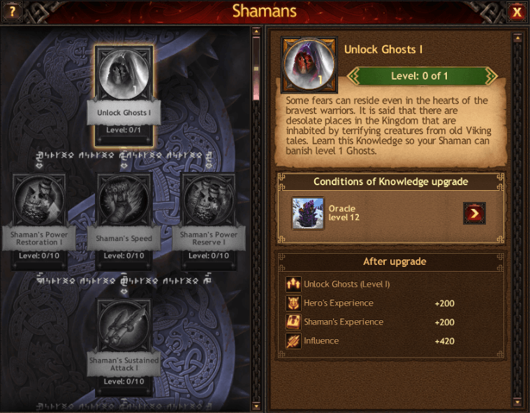 Shaman Skills