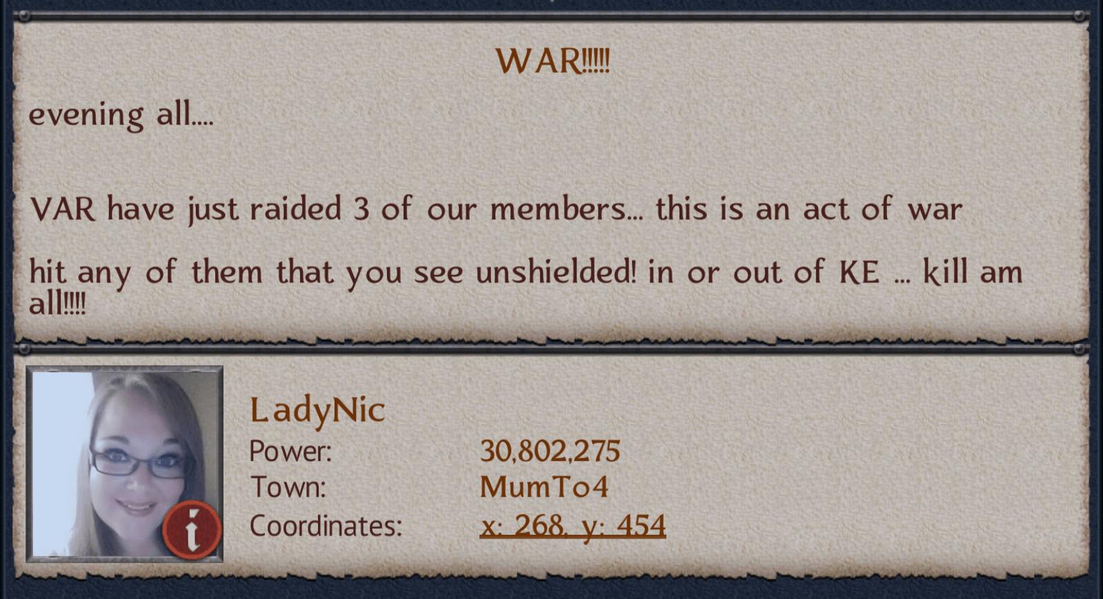 War Continues