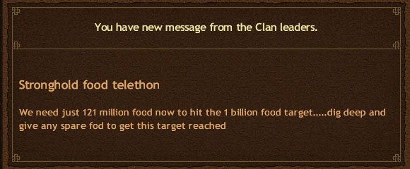 Clan Stronghold Working on it