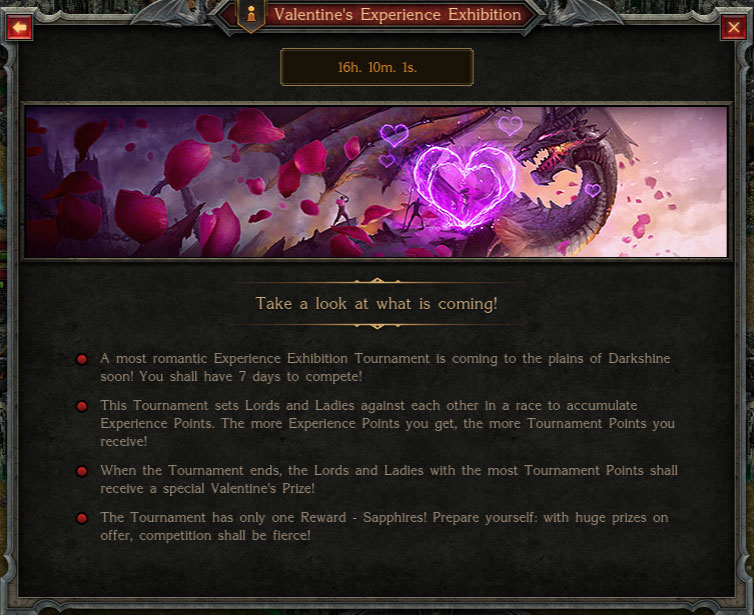 Valentines Exp Coming