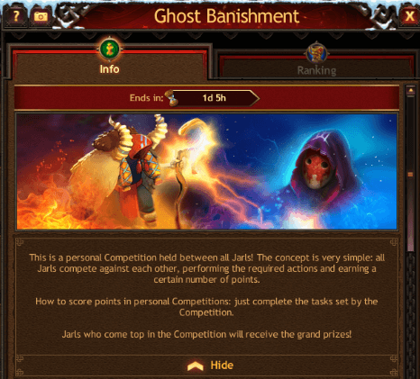 Ghost Banishment Event