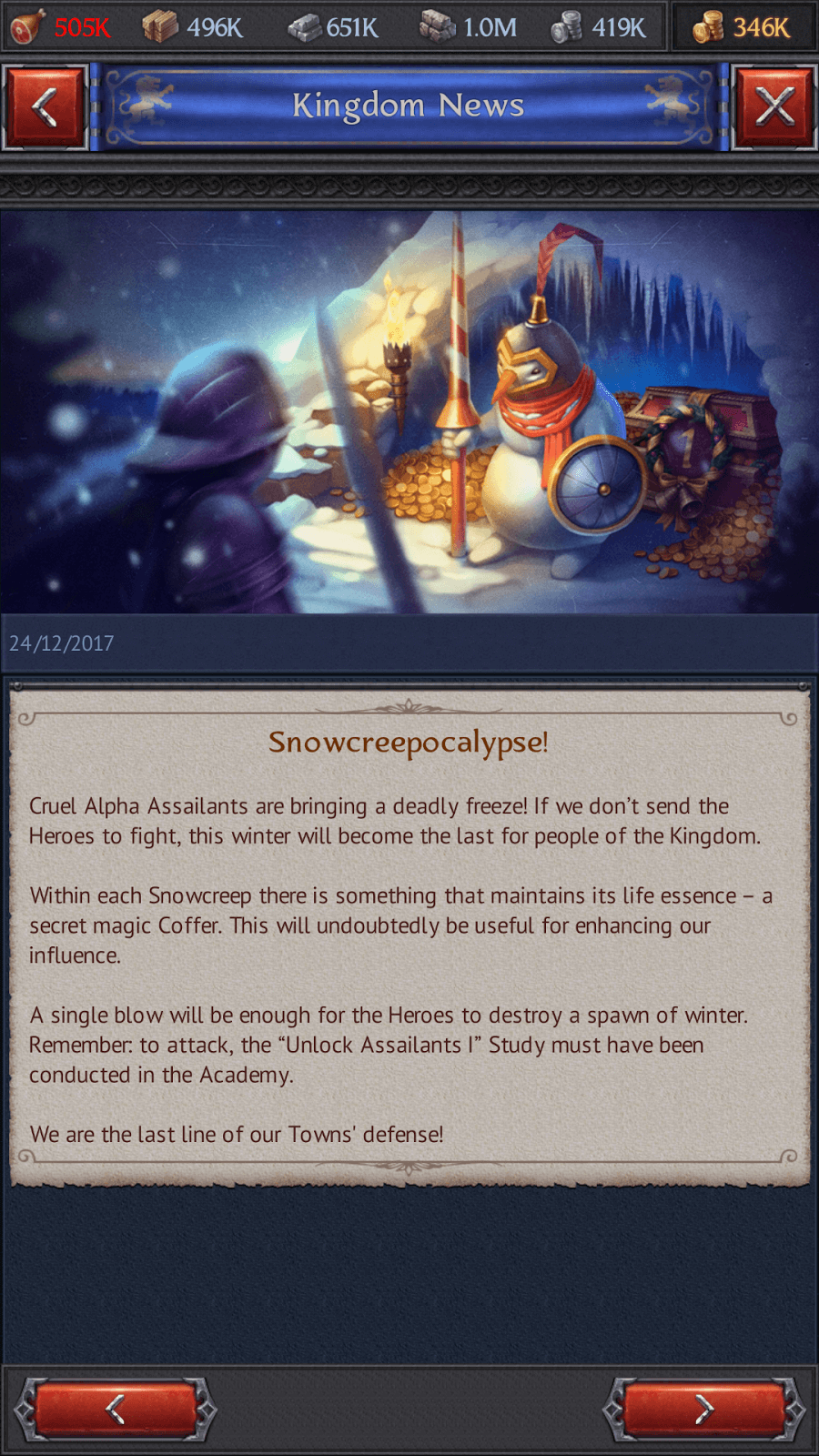 Snowscreeps Coming