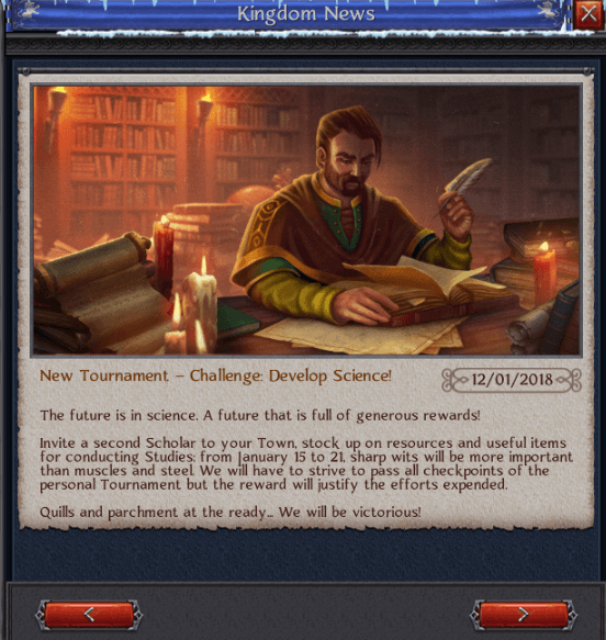 New Tourney Develop Science