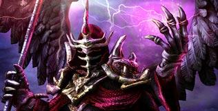 Personajes de juegos: el guerrero oscuro