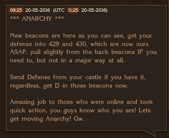 Anarchy Moves New Beacons