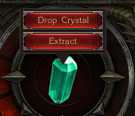 Dropping Crystals