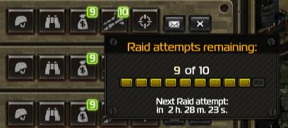 Raid Attempts Remaining