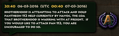 Brotherhood Attacks Pan 112