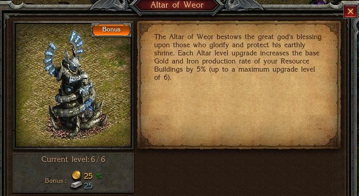 Costruisci l'Altare di Weor