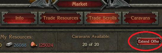 Setting up a trade