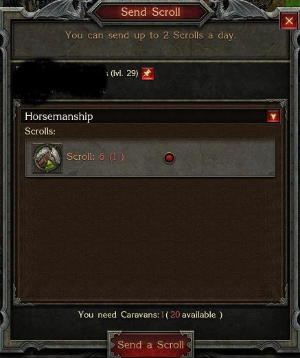 Sending a scroll as a gift