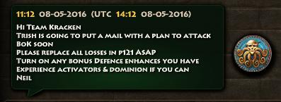 Kracken Plan Attack BoK