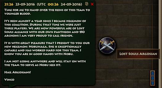 Lost Souls Argosian Steps down