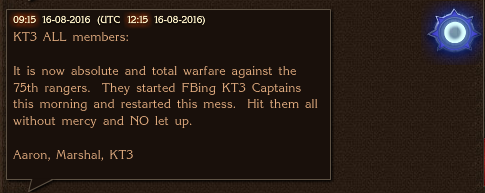 KT3 Declares War 75th Ranges