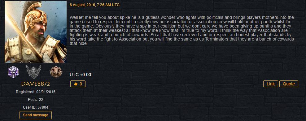 Terminators Lash Out Association