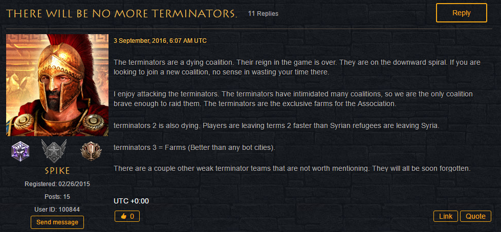 No More Terminators