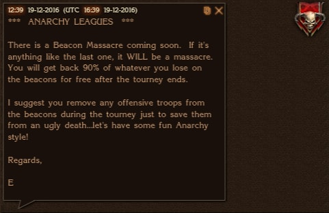 Leagues Prepare Beacon Massacre